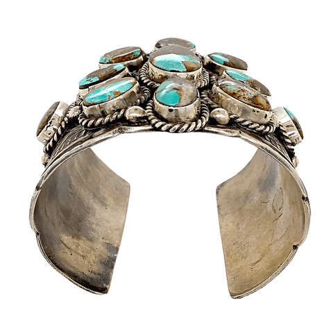 Image of Native American Bracelet - Navajo  Sterling Silver And Royston Turquoise Cuff Bracelet