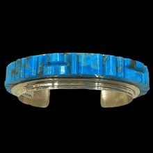 Load image into Gallery viewer, Navajo Turquoise Cobblestone Bracelet