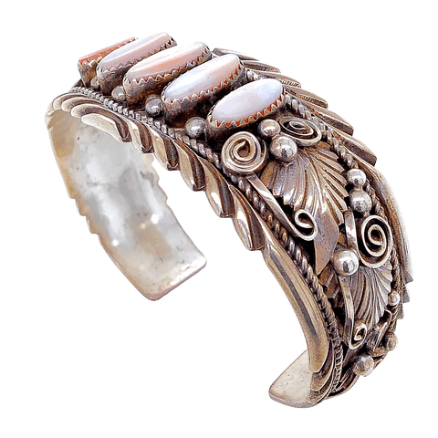 Native American Bracelet - Pawn Enchantress Mother-Of-Pearl Embellished Bracelet