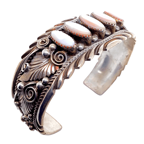 Image of Native American Bracelet - Pawn Enchantress Mother-Of-Pearl Embellished Bracelet