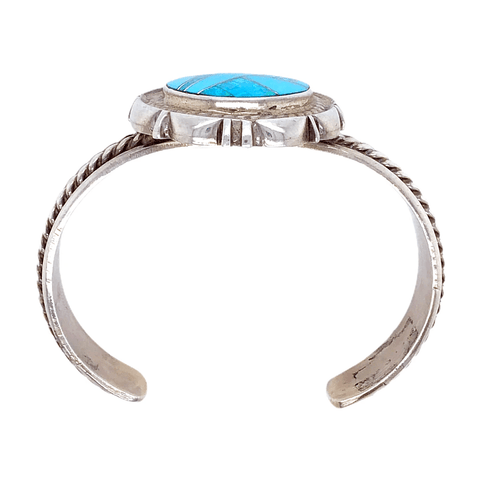 Image of Native American Bracelet - Pawn Sterling Silver And Created Opal And Turquoise Bracelet