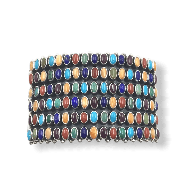 Native American Bracelet - SOLD Dee Nez Navajo Multi-Color Bracelet