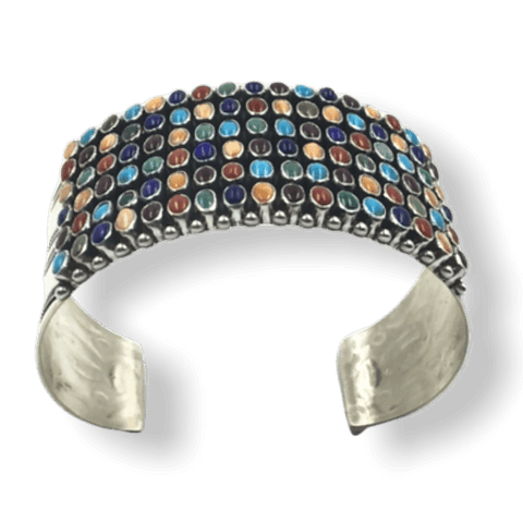 Image of Native American Bracelet - SOLD Dee Nez Navajo Multi-Color Bracelet
