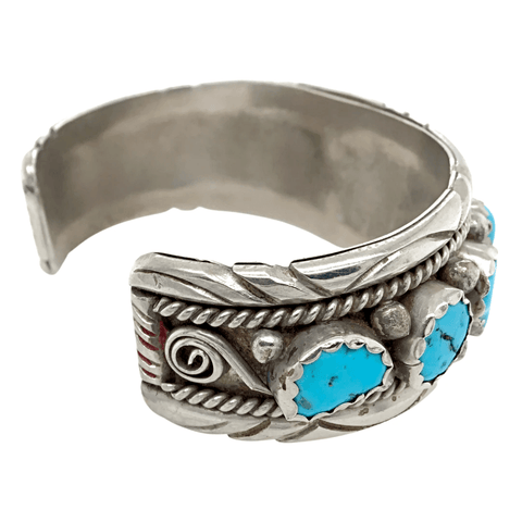 Image of Native American Bracelet - SOLD Vintage P.awn Turquoise B.racelet