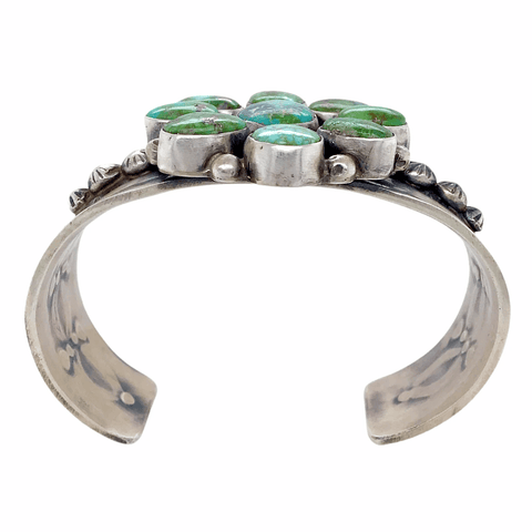 Image of Native American Bracelet - Sonoran Turquoise Moss Blossom Navajo Bracelet
