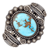 Native American Bracelet - Stunning Navajo Golden Hill Turquoise Sterling Silver Bracelet - Mike Calladitto