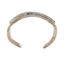 Load image into Gallery viewer, Native American Bracelet - Turquoise & Spiny Oyster Inlay Zuni Pawn Bracelet Helen And Lincoln Zunie