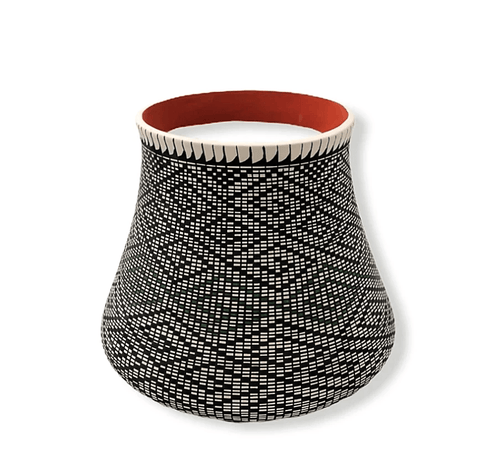 Image of Native American Jewelry - Acoma Geometric Pot By Melissa Antonio