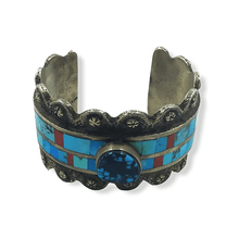 Load image into Gallery viewer, L. James Turquoise Pawn Bracelet