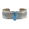Native American Jewelry - Navajo Gold Hills Turquoise Bracelet