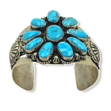Load image into Gallery viewer, Navajo Kingman Turquoise Multi Stone Bracelet