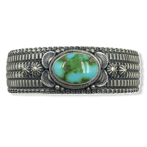 Native American Jewelry - Navajo Sonoran Turquoise Cuff Bracelet