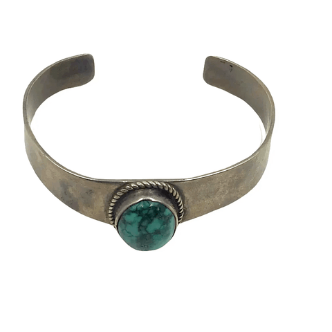 Image of Native American Jewelry - Navajo Turquoise Pawn Bracelet-Plain