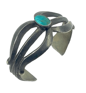 Native American Jewelry - Pawn Navajo Sandcast Turquoise Bracelet