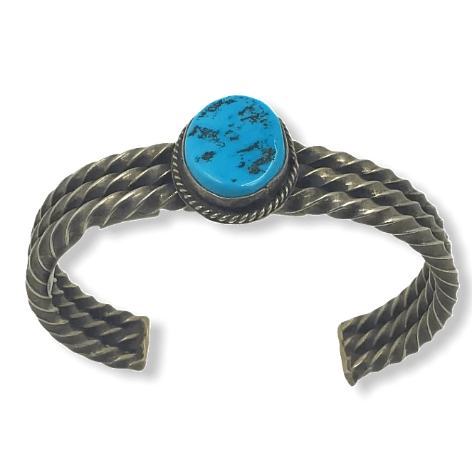 Native American Jewelry - Sleeping Beauty Turquoise Navajo Pawn Bracelet