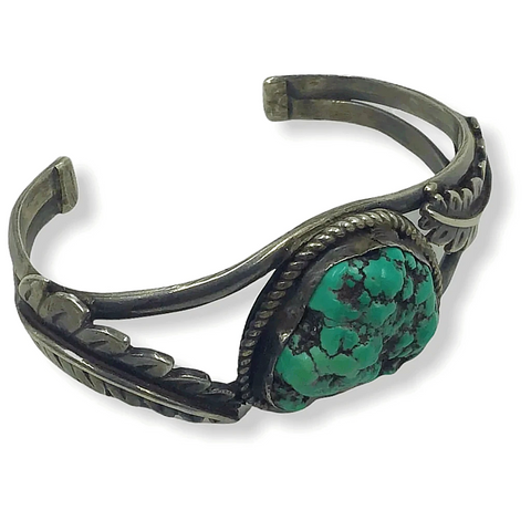 Image of Native American Jewelry - Vintage Navajo Turquoise Nuggert Bracelet