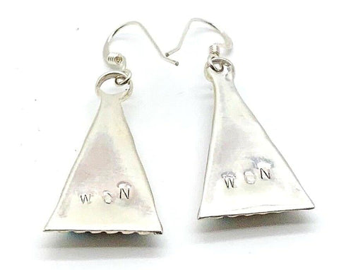 Image of Native American Jewelry - Zuni Multi-Stone Dangle Earrings-Carol Niiha