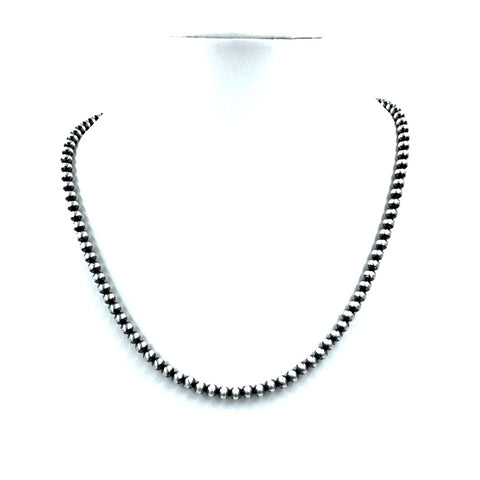 Image of Native American Necklaces - Navajo Pearls Necklace - 6mm Beads- Choose Your Size - Native American