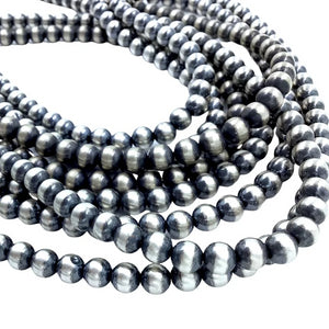 Native American Necklaces - Navajo Pearls Necklace - 6mm Beads- Choose Your Size - Native American