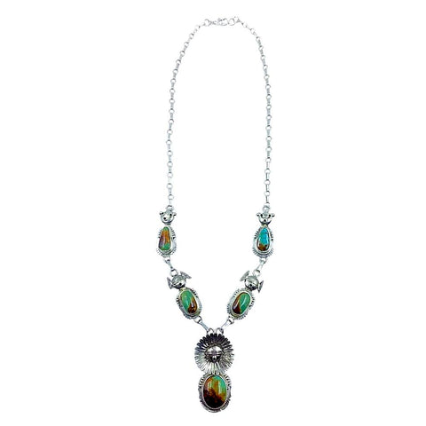 Image of Native American Necklaces - Navajo Royston Turquoise Necklace - Bennie Ration - Native American