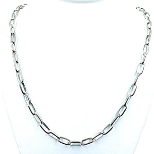 Native American Necklaces & Pendants - 30 Inch Navajo Heavy Handmade Sterling Silver Chain - Native American Necklace