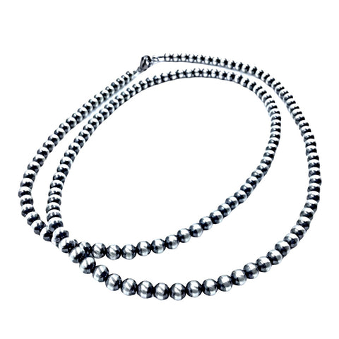 Image of Native American Necklaces & Pendants - 36 Inch Navajo Pearls Necklace - 6mm Beads - Native American