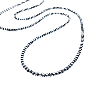 Native American Necklaces & Pendants - 60 Inch Navajo Pearls Necklace - 5mm Beads- Native American