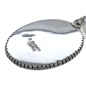 Native American Necklaces & Pendants - Classic Oval White Buffalo Pendant - E. Spencer - Navajo