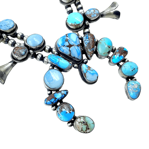 Native American Necklaces & Pendants - Golden Hill Turquoise Necklace Set - Paul Livingston, Navajo