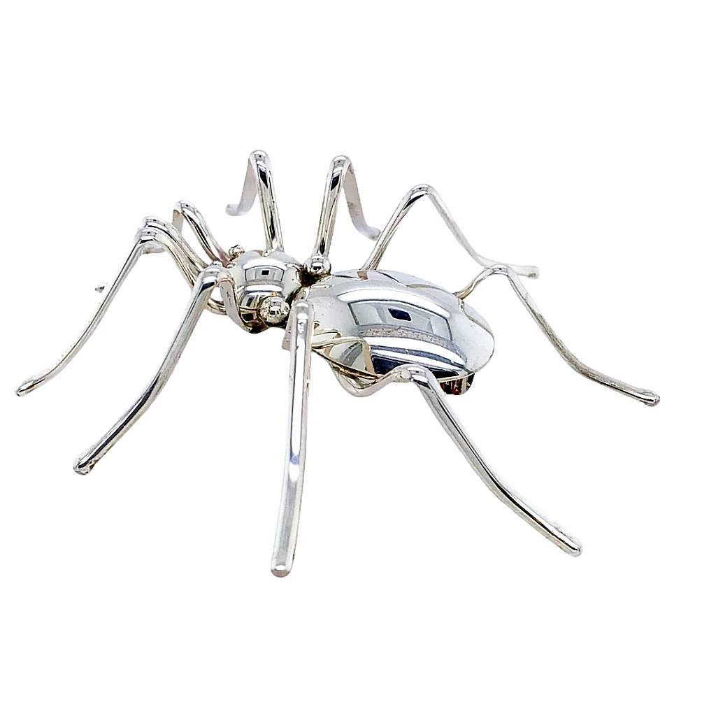 Native American Necklaces & Pendants - Large Navajo Sterling Silver Spider Pin - Emily Spencer
