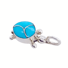 Load image into Gallery viewer, Native American Necklaces & Pendants - Mini Sleeping Beauty Turquoise Turtle Pendant - Zuni