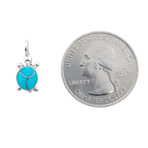 Native American Necklaces & Pendants - Mini Sleeping Beauty Turquoise Turtle Pendant - Zuni
