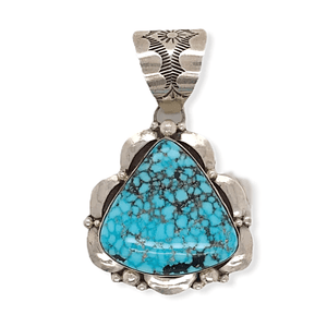 Native American Necklaces & Pendants - Navajo Birds Eye Kingman Turquoise Pendant