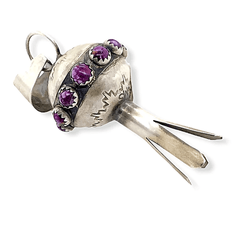 Image of Native American Necklaces & Pendants - Navajo Blossom Pendant In Purple Spiny Oyster
