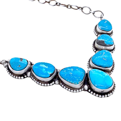 Image of Native American Necklaces & Pendants - Navajo Blue Bird Turquoise Necklace- Ella Peters - Native American