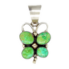Native American Necklaces & Pendants - Navajo Green Butterfly Turquoise Pendant - Kathleen Chavez