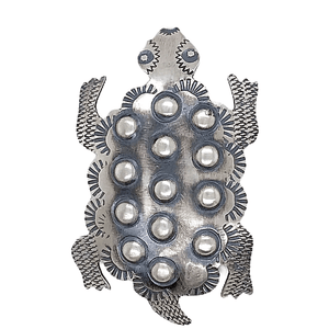 Native American Necklaces & Pendants - Navajo Horned Toad Sterling Silver Pin - Tim Yazzie Brooch