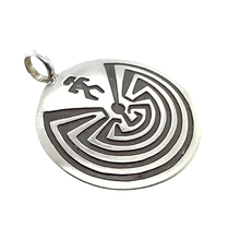 Load image into Gallery viewer, Native American Necklaces & Pendants - Navajo Man-In-The-Maze Sterling Silver Pendant