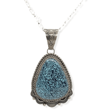 Load image into Gallery viewer, Native American Necklaces & Pendants - Old Style Navajo Spider Web Kingman Turquoise Pendant