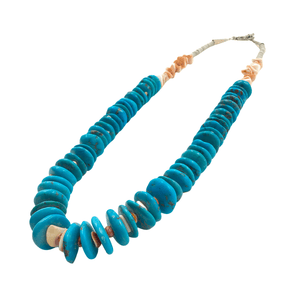 Native American Necklaces & Pendants - Pawn Turquoise And Spiney Oyster Necklace