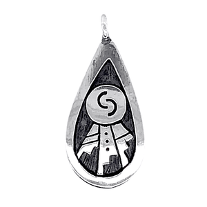 Native American Necklaces & Pendants - Small Hopi Ancient Relic Sterling Silver Pendant
