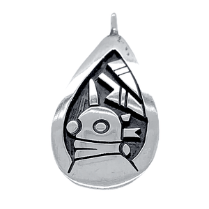 Native American Necklaces & Pendants - Small Hopi Kachina Sterling Silver Pendant