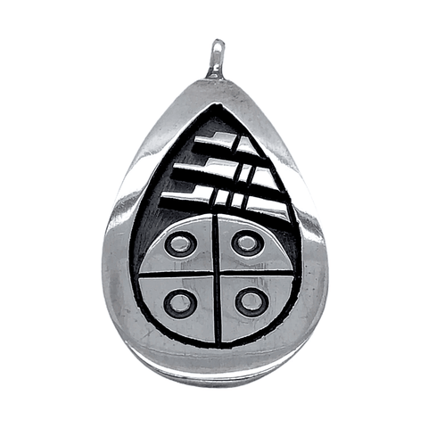 Image of Native American Necklaces & Pendants - Small Hopi Traditional Symbol Sterling Silver Pendant