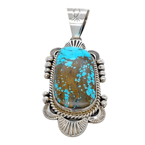 Native American Necklaces & Pendants - Sophisticated Style Navajo #8 Turquoise Pendant - Mary Ann Spencer