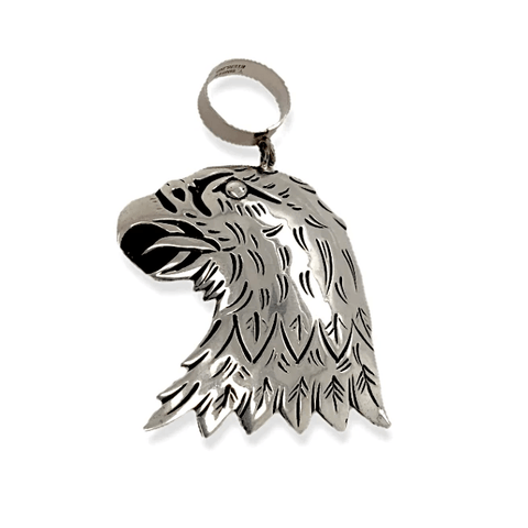 Image of Native American Necklaces & Pendants - Sterling Silver Eagle Pendant By  Tommy & Rosita Singer - Navajo