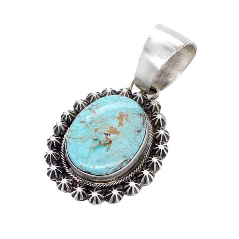 Image of Native American Pendants - Navajo Dry Creek Turquoise Pendant - Bobby Johnson - Native American