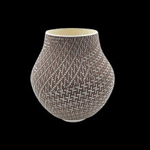 Load image into Gallery viewer, Acoma Brown & White Pot by Frederica Antonio