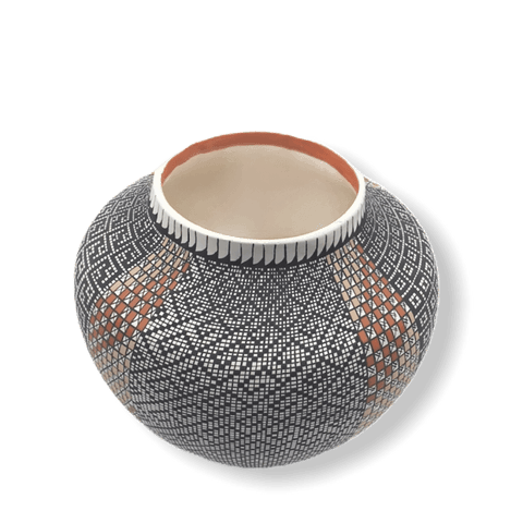 Image of Native American Pot - Acoma Eye-Dazzler Pot By Melissa Antonio