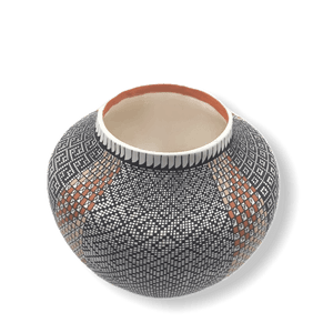 Native American Pot - Acoma Eye-Dazzler Pot By Melissa Antonio