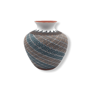 Acoma Swril Pot by Melissa Antonio